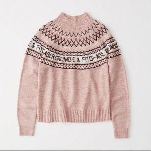 Abercrombie Intarsia Logo Neck Sweater NWT